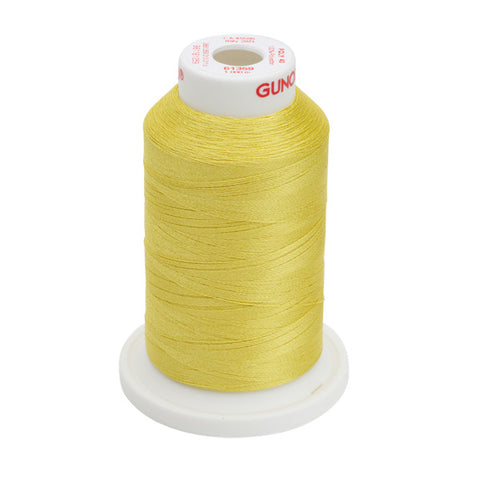61359 - Light Yellow Polyester Embroidery Thread - 40 WT. 1,100 yd. Cones