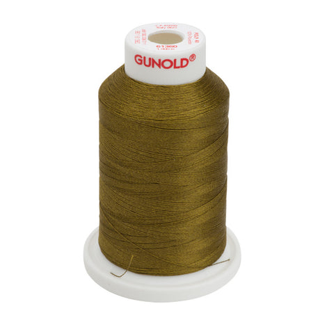 61360 - Deep Gold Green Polyester Embroidery Thread - 40 WT. 1,100 yd. Cones