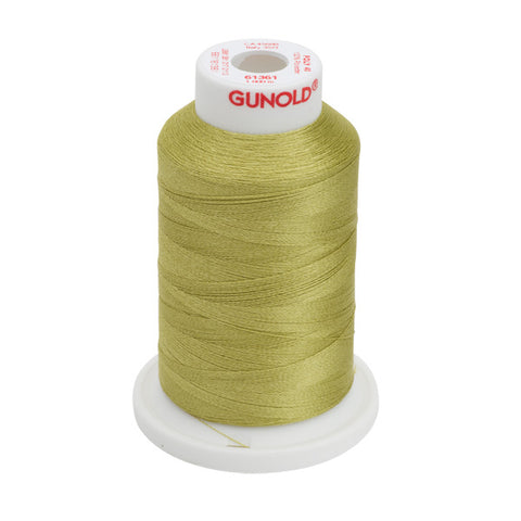 61361 - Light Olive Polyester Embroidery Thread - 40 WT. 1,100 yd. Cones