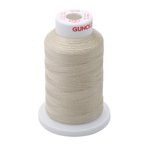 61372 - Beige Polyester Embroidery Thread - 40 WT. 1,100 yd. Cones