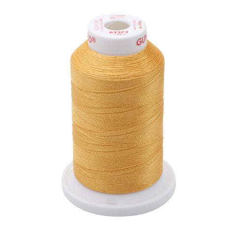61373 - Dark Amber Polyester Embroidery Thread - 40 WT. 1,100 yd. Cones