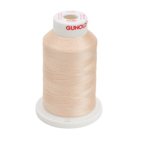 61387 - Light Apricot Polyester Embroidery Thread - 40 WT. 1,100 yd. Cones