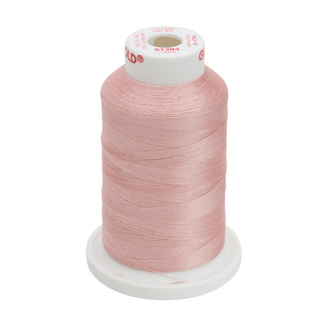 61394 - Blush Polyester Embroidery Thread - 40 WT. 1,100 yd. Cones