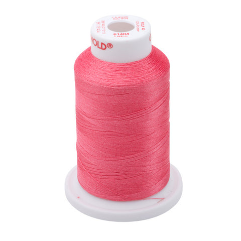 61404 - Ultra Pink Polyester Embroidery Thread - 40 WT. 1,100 yd. Cones