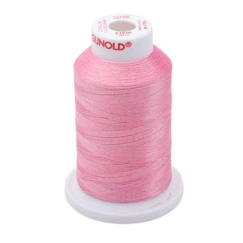 61410 - Medium Pink Polyester Embroidery Thread - 40 WT. 1,100 yd. Cones