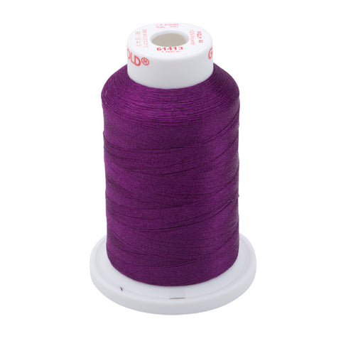 61413 - Grape Polyester Embroidery Thread - 40 WT. 1,100 yd. Cones