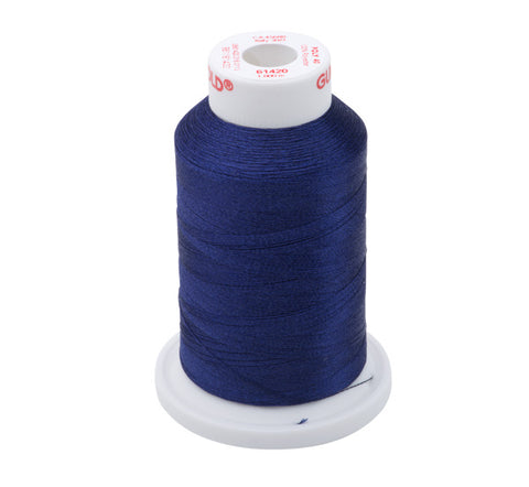 61420 - Medium Indigo Polyester Embroidery Thread - 40 WT. 1,100 yd. Cones
