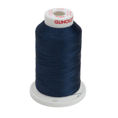 61422 - Light Indigo Polyester Embroidery Thread - 40 WT. 1,100 yd. Cones