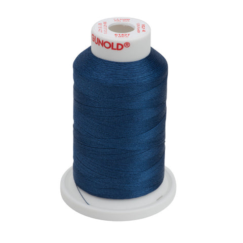 61427 - Deep Sapphire Polyester Embroidery Thread - 40 WT. 1,100 yd. Cones