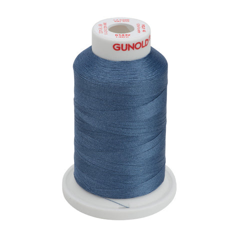 61432 - Dusty Blue Polyester Embroidery Thread - 40 WT. 1,100 yd. Cones