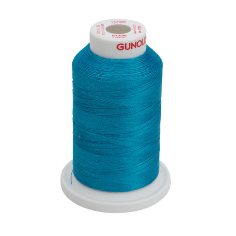 61435 - Caribbean Blue Polyester Embroidery Thread - 40 WT. 1,100 yd. Cones