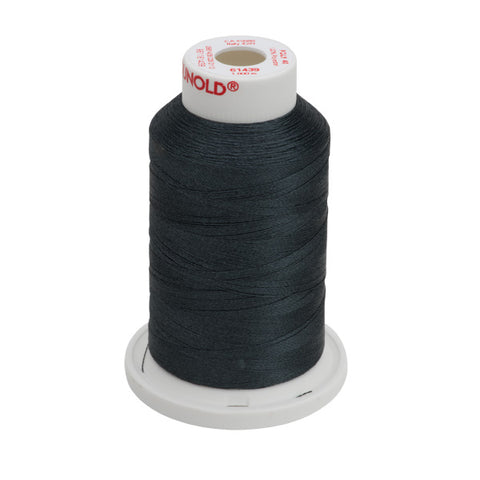 61439 - Cool Black Polyester Embroidery Thread - 40 WT. 1,100 yd. Cones