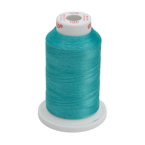 61443 - Light Aquamarine Polyester Embroidery Thread - 40 WT. 1,100 yd. Cones