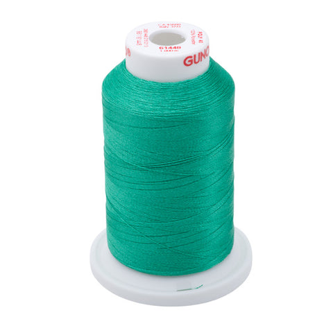61448 - Light Kelly Green Polyester Embroidery Thread - 40 WT. 1,100 yd. Cones