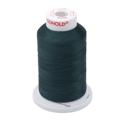61450 - Ultra Kelly Green Polyester Embroidery Thread - 40 WT. 1,100 yd. Cones