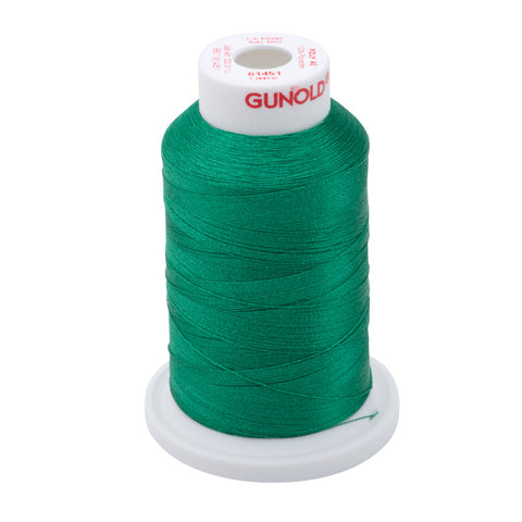 61451 - Summer Green Polyester Embroidery Thread - 40 WT. 1,100 yd. Cones