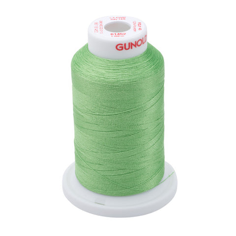 61452 - Spring Green Polyester Embroidery Thread - 40 WT. 1,100 yd. Cones