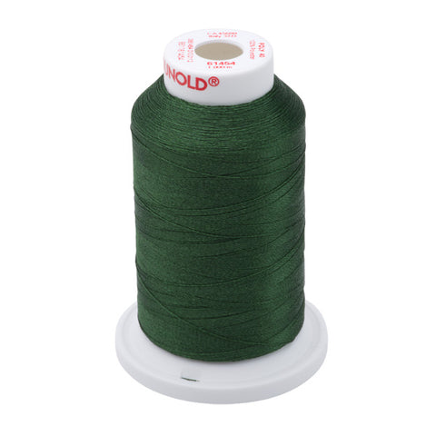 61454 - Dark Green Polyester Embroidery Thread - 40 WT. 1,100 yd. Cones
