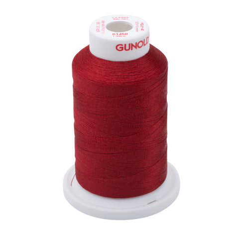 61458 - Ruby Red Polyester Embroidery Thread - 40 WT. 1,100 yd. Cones