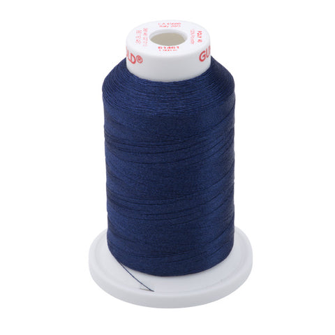 61461 - Oxford Blue Polyester Embroidery Thread - 40 WT. 1,100 yd. Cones