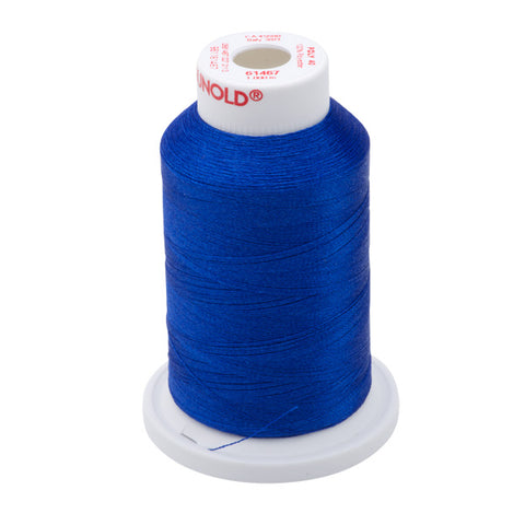 61467 - Dark Cerulean Blue Polyester Embroidery Thread - 40 WT. 1,100 yd. Cones