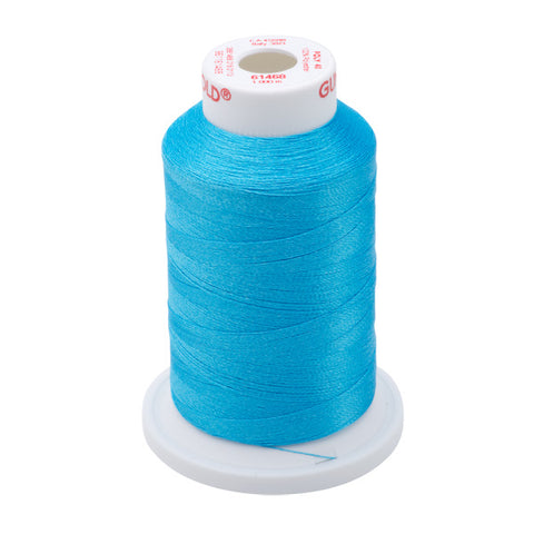 61468 - Light Peacock Blue Polyester Embroidery Thread - 40 WT. 1,100 yd. Cones