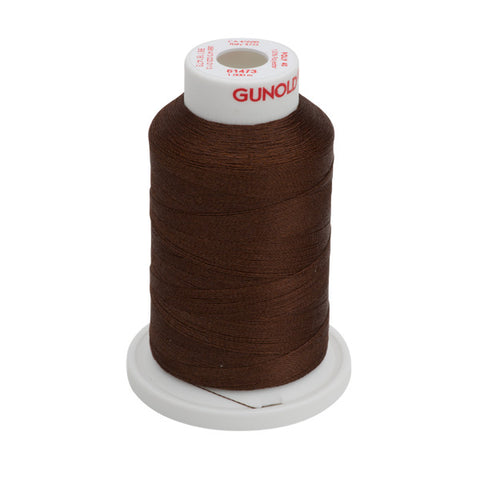 61473 - Roasted Coffee Polyester Embroidery Thread - 40 WT. 1,100 yd. Cones