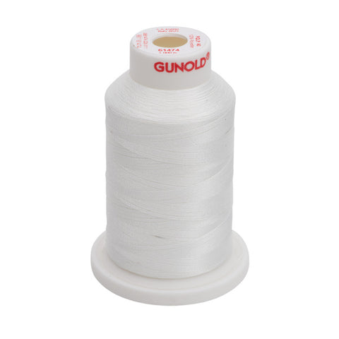 61474 - White Polyester Embroidery Thread - 40 WT. 1,100 yd. Cones