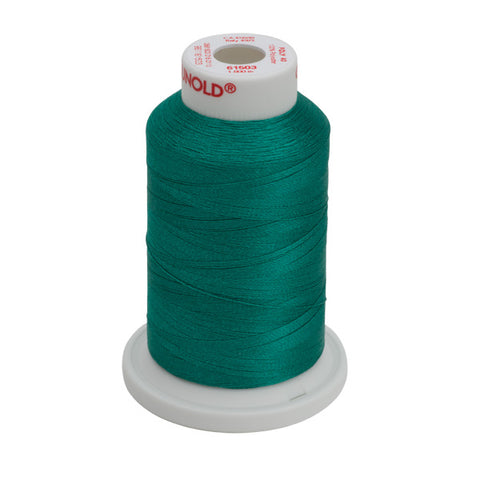 61503 - Green Peacock Polyester Embroidery Thread - 40 WT. 1,100 yd. Cones