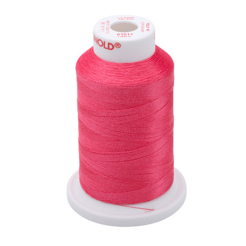 61511 - Deep Rose Polyester Embroidery Thread - 40 WT. 1,100 yd. Cones