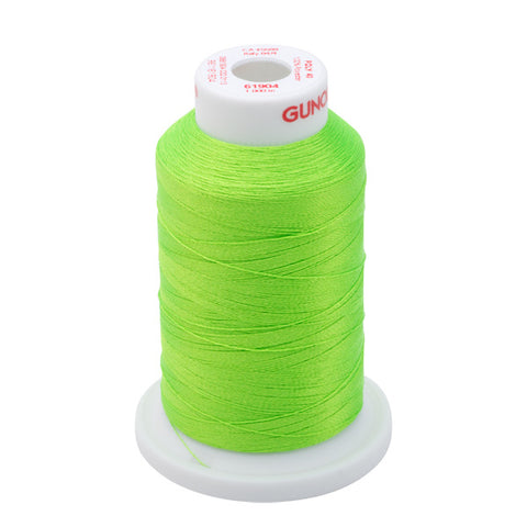 61904 - Lime Green Neon Polyester Embroidery Thread - 40 WT. 1,100 yd. Cones
