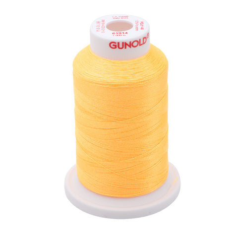 61914 - Light Orange Neon Polyester Embroidery Thread - 40 WT. 1,100 yd. Cones