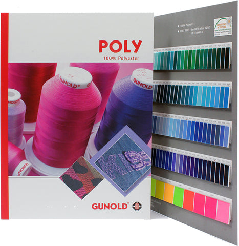 Poly (Polyester) Color Card