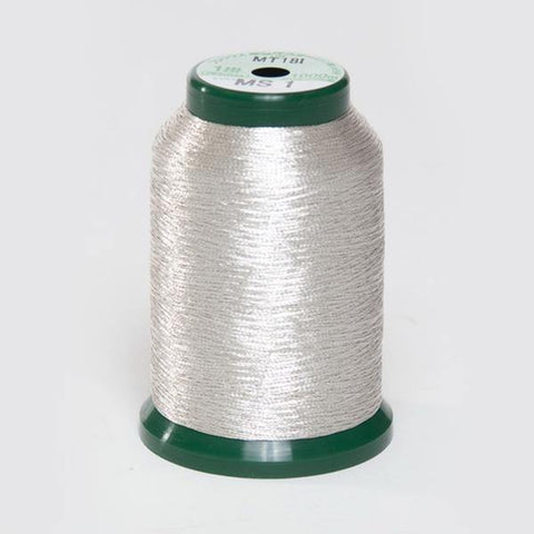 KingStar Metallic Embroidery Thread - MS - 1 Silver (A470031)