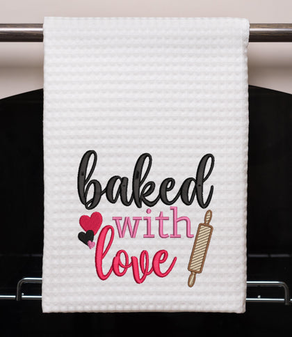 Baked with Love Embroidery Design - Oh My Crafty Supplies Inc.