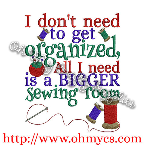 Bigger Sewing Room Embroidery Design