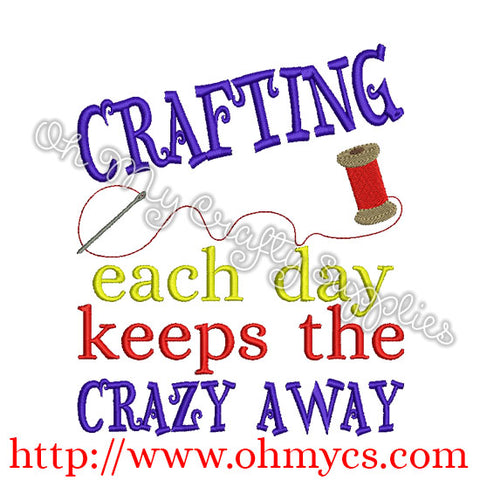 Crafting Each Day Embroidery Design