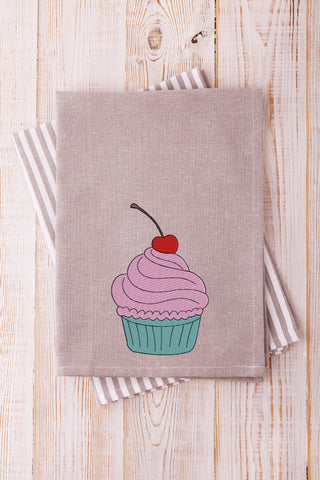 Cupcake Solid Stitch 2021 Embroidery Design