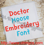 Doctor Moose Embroidery Font (BX Included)