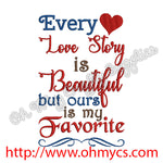 Every Love Story Embroidery Design