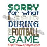 Football Apology Embroidery Design