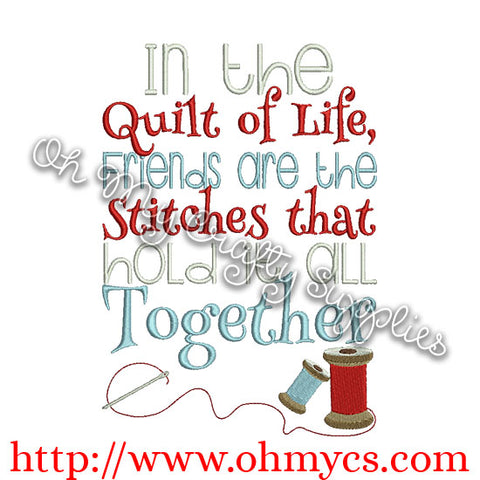 Friendship Stitches Embroidery Design