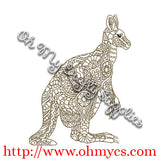 Henna Kangaroo Embroidery Design