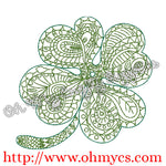 Henna Clover Embroidery Design