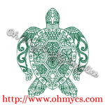 Henna Turtle Embroidery Design