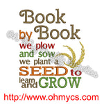 Book Planting Embroidery Design