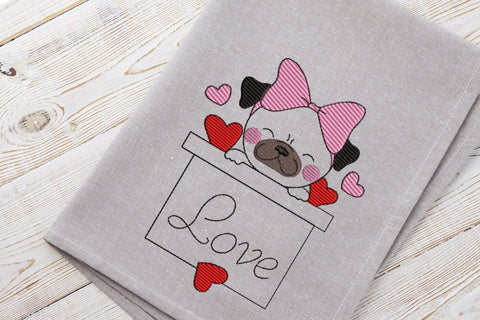 Love Puppy 2021 Embroidery Design