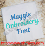 Maggie Embroidery Font (BX Included)