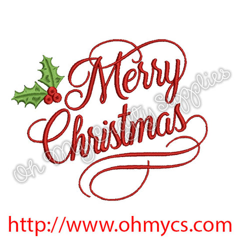 Merry Christmas Embroidery Designs