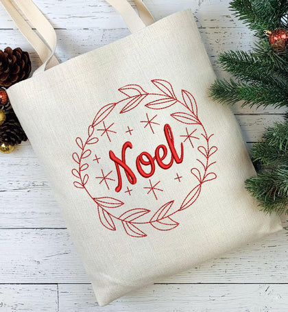 Noel Wreath Embroidery Design - Oh My Crafty Supplies Inc.
